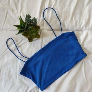 3/$20 BLUE SKINNY STRAP CROP TOP